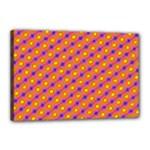 Vibrant Retro Diamond Pattern Canvas 18  x 12