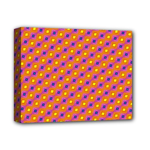 Vibrant Retro Diamond Pattern Deluxe Canvas 14  x 11