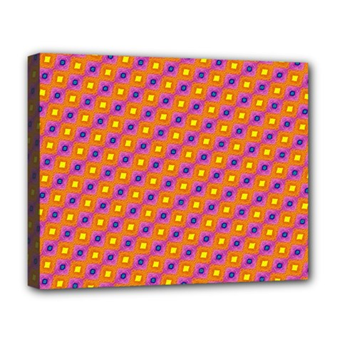 Vibrant Retro Diamond Pattern Deluxe Canvas 20  X 16