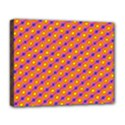 Vibrant Retro Diamond Pattern Deluxe Canvas 20  x 16   View1