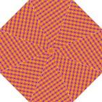 Vibrant Retro Diamond Pattern Hook Handle Umbrellas (Medium)