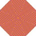 Vibrant Retro Diamond Pattern Hook Handle Umbrellas (Medium) View1