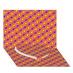 Vibrant Retro Diamond Pattern Heart Bottom 3D Greeting Card (7x5)