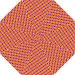 Vibrant Retro Diamond Pattern Hook Handle Umbrellas (Small)