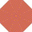Vibrant Retro Diamond Pattern Hook Handle Umbrellas (Small) View1