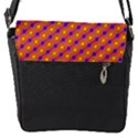 Vibrant Retro Diamond Pattern Flap Messenger Bag (S) View1