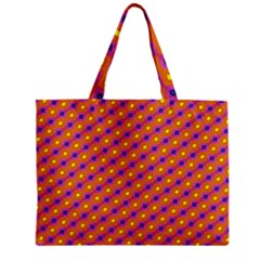 Vibrant Retro Diamond Pattern Mini Tote Bag