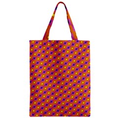 Vibrant Retro Diamond Pattern Zipper Classic Tote Bag