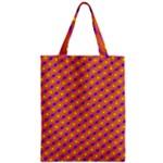 Vibrant Retro Diamond Pattern Zipper Classic Tote Bag