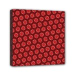 Red Passion Floral Pattern Mini Canvas 6  x 6