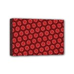 Red Passion Floral Pattern Mini Canvas 6  x 4