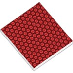 Red Passion Floral Pattern Small Memo Pads