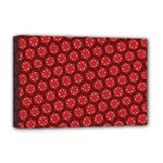 Red Passion Floral Pattern Deluxe Canvas 18  x 12