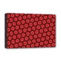 Red Passion Floral Pattern Deluxe Canvas 18  x 12   View1