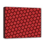 Red Passion Floral Pattern Deluxe Canvas 20  x 16
