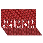 Red Passion Floral Pattern #1 MOM 3D Greeting Cards (8x4)