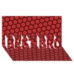 Red Passion Floral Pattern BEST BRO 3D Greeting Card (8x4)