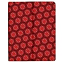 Red Passion Floral Pattern Apple iPad Mini Flip Case View1
