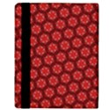 Red Passion Floral Pattern Apple iPad Mini Flip Case View3
