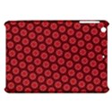 Red Passion Floral Pattern Apple iPad Mini Hardshell Case View1