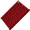 Red Passion Floral Pattern Apple iPad Mini Hardshell Case View4