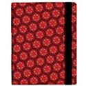 Red Passion Floral Pattern Samsung Galaxy Tab 10.1  P7500 Flip Case View3