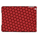 Red Passion Floral Pattern iPad Air Hardshell Cases View1