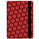 Red Passion Floral Pattern iPad Air Flip View2