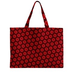 Red Passion Floral Pattern Mini Tote Bag by DanaeStudio