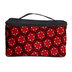 Red Passion Floral Pattern Cosmetic Storage Case by DanaeStudio