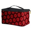 Red Passion Floral Pattern Cosmetic Storage Case View3