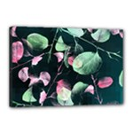 Modern Green And Pink Leaves Canvas 18  x 12