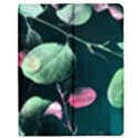 Modern Green And Pink Leaves Apple iPad 2 Flip Case View1