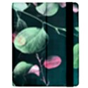 Modern Green And Pink Leaves Apple iPad 2 Flip Case View2