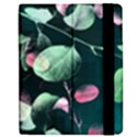 Modern Green And Pink Leaves Apple iPad Mini Flip Case View2