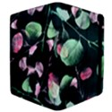 Modern Green And Pink Leaves Apple iPad Mini Flip Case View4