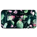 Modern Green And Pink Leaves Apple iPhone 4/4S Hardshell Case (PC+Silicone) View1