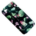 Modern Green And Pink Leaves Apple iPhone 4/4S Hardshell Case (PC+Silicone) View5