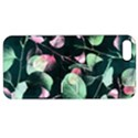 Modern Green And Pink Leaves Apple iPhone 5 Hardshell Case with Stand View1