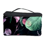 Modern Green And Pink Leaves Cosmetic Storage Case
