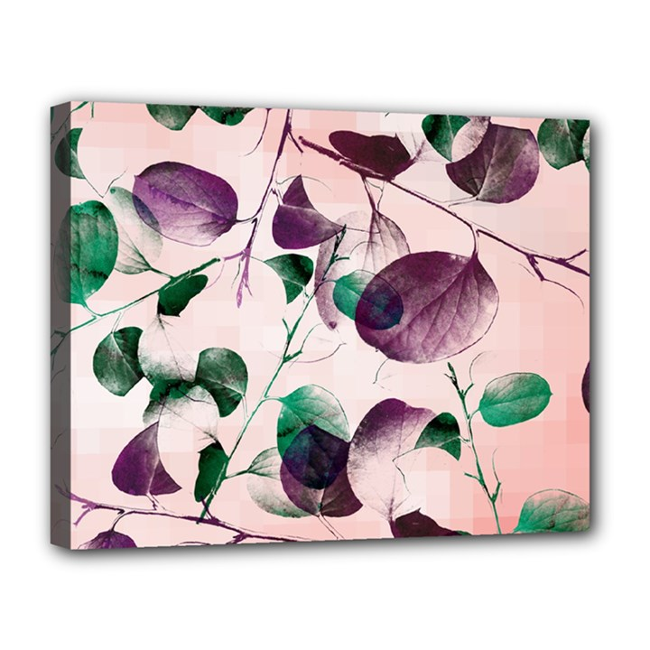 Spiral Eucalyptus Leaves Canvas 14  x 11
