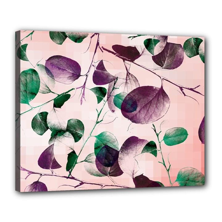 Spiral Eucalyptus Leaves Canvas 20  x 16