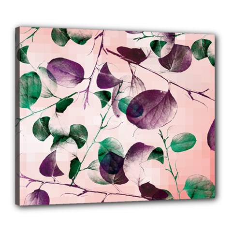 Spiral Eucalyptus Leaves Canvas 24  X 20