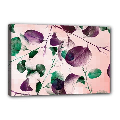 Spiral Eucalyptus Leaves Canvas 18  X 12  by DanaeStudio
