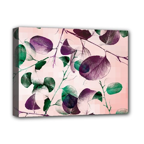 Spiral Eucalyptus Leaves Deluxe Canvas 16  X 12   by DanaeStudio
