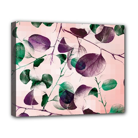 Spiral Eucalyptus Leaves Deluxe Canvas 20  X 16   by DanaeStudio