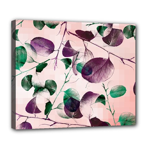 Spiral Eucalyptus Leaves Deluxe Canvas 24  X 20   by DanaeStudio