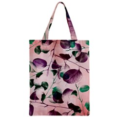 Spiral Eucalyptus Leaves Zipper Classic Tote Bag by DanaeStudio