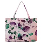 Spiral Eucalyptus Leaves Medium Zipper Tote Bag