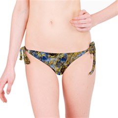 Antique Anciently Gold Blue Vintage Design Bikini Bottom by designworld65